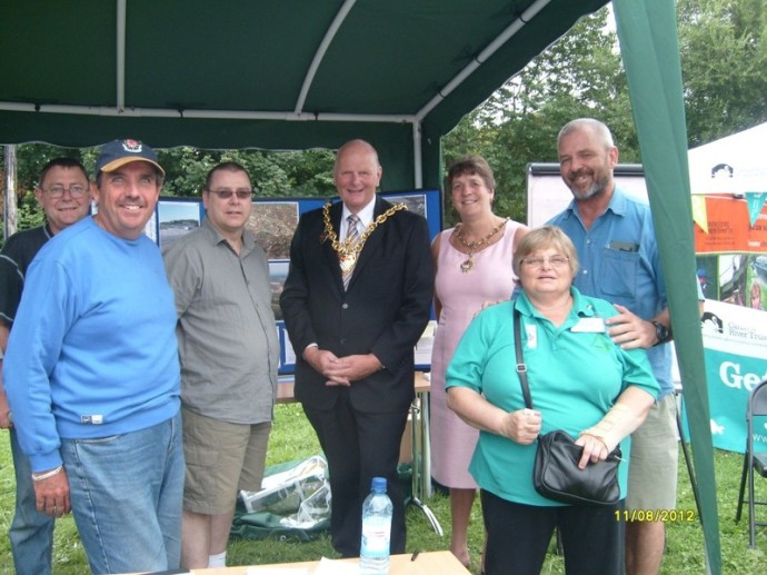 Plas Kynaston Canal Group at the Pontcysyllte Aqueduct Fun Day August 2012